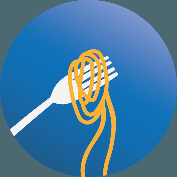 icona forchetta con spaghetti