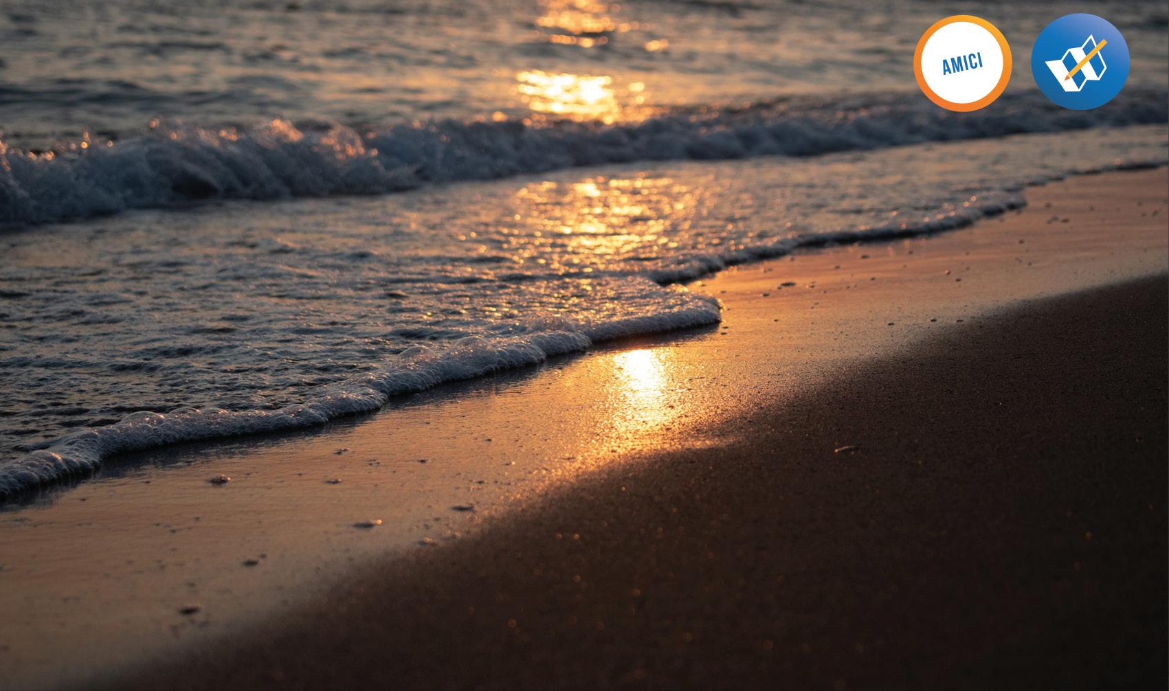 mare del salento al tramonto