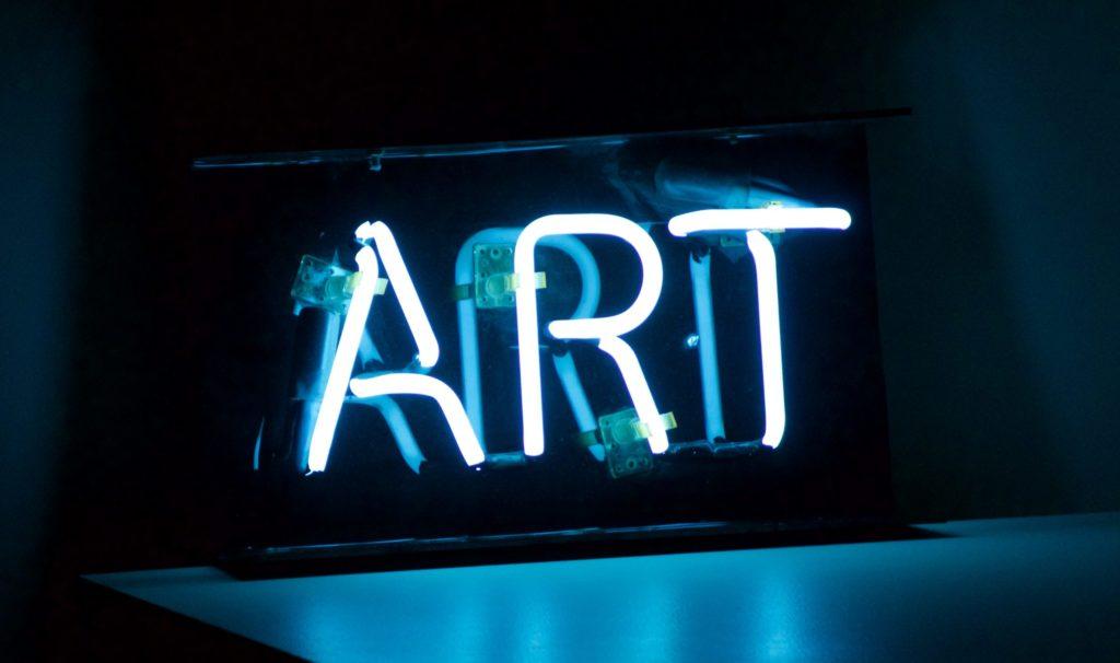 art scritta neon